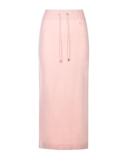 Розовая юбка из шерсти и кашемира Markus Lupfer KN2609 BAPI купить