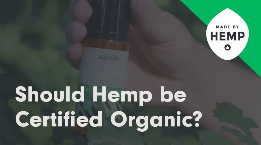 hemp certified organic