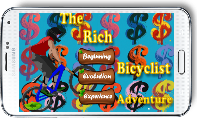 android The Rich Bicyclist Adventure Screenshot 1