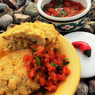 Sassy Stuffed Masa Biscuits with Salsa