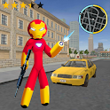 IRON Stickman Rope Hero Fighting Miami Gangstar icon
