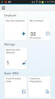 Screenshot of SAP Fiori Client