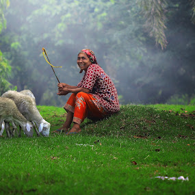 goatherders by Odlie Ahmad - People Portraits of Women