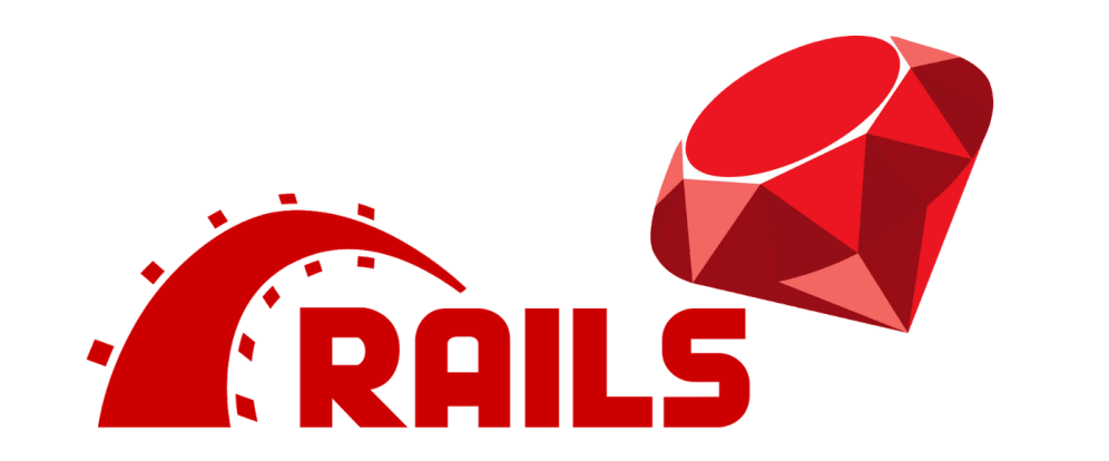 A screen showing Ruby on Rails's logo.