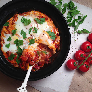 Three Bean Tagine with Baked Eggs