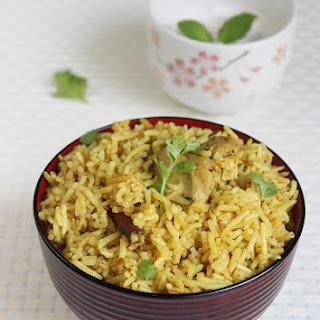 Andhra Chicken Biryani Recipe Below
