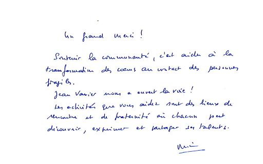 Mot de benoit Bataille président de L'Arche du Caillou Blanc