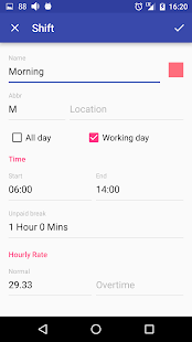 Shift.Cal+: miniatura de captura de pantalla