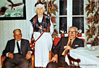 Photo: fr v Erik Persson f.1906, Edit Eriksson f.1898, Levi Eriksson f 1908,  foto 1968