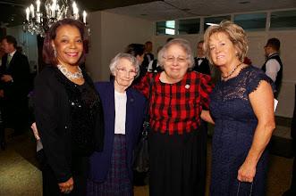 Photo: Judith Barnes Lancaster, Sr. Mary Patricia Barrett, CSA, Sr. Judith Ann Karam, CSA and Kimberly Cecconi gather for a photo at the 2013 Imagine! Harvest Ball.