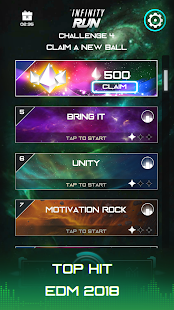 Infinity Run: Rush Balls On Rhythm Roller Coaster Screenshot