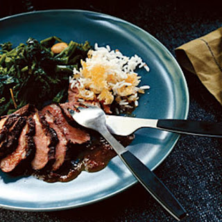 Broiled Duck Breasts with Orange Chipotle Sauce.