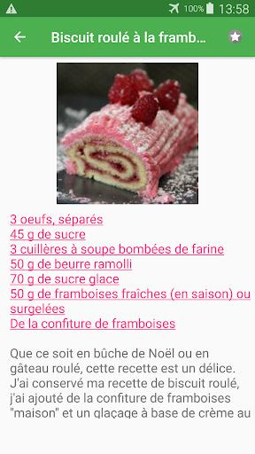 Biscuit roulu00e9 avec calories recettes en franu00e7ais. 2.14.10021 screenshots 4