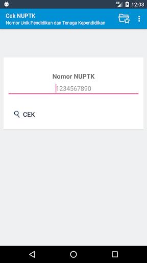 Screenshot 1 Cek NUPTK