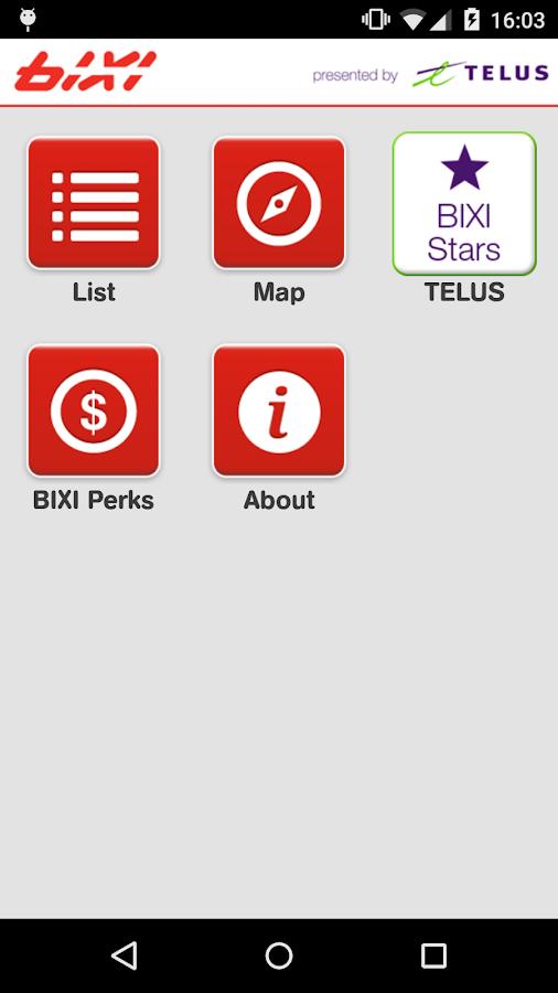 BIXI- screenshot