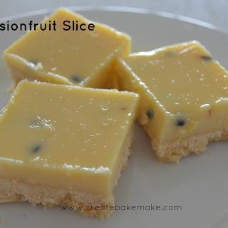Easy Passionfruit Slice