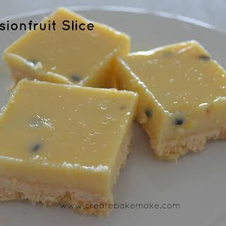 Easy Passionfruit Slice.
