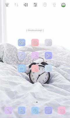 Morning Alarm launcher theme - screenshot