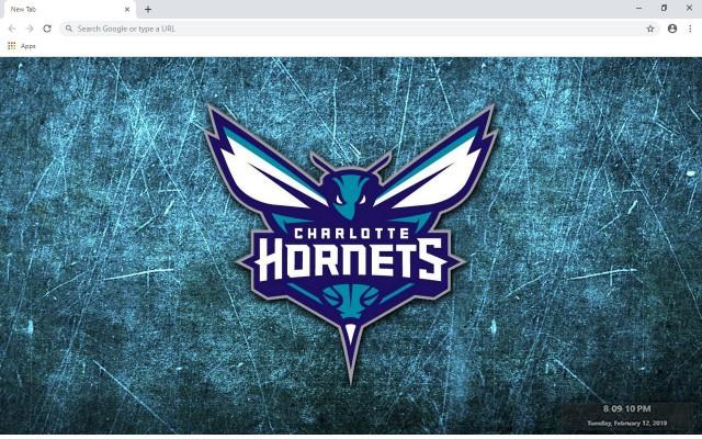 Charlotte Hornets New Tab Theme