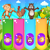 Baby Piano Game for Kids-Animals, Rhymes and Music