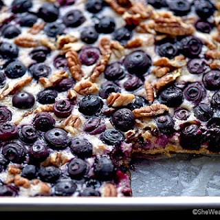 Oatmeal Lemon Blueberry Bars