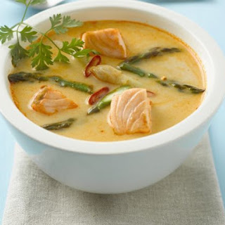 Salmon Red Curry Soup