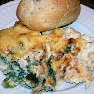 Creamy Cheesy Chicken and Broccoli Casserole.