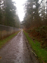 Photo: 3 laps of the Youngs Lake watershed. Lots of fence!