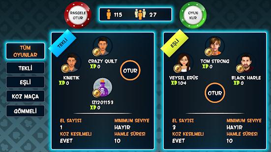 Batak Online - Tekli, Eşli, Gömmeli İhaleli Batak APK for Bluestacks