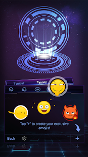 Spaceship Landing Theme&Emoji Keyboard - náhled