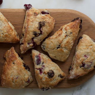 Sour Cherry Chocolate Scones