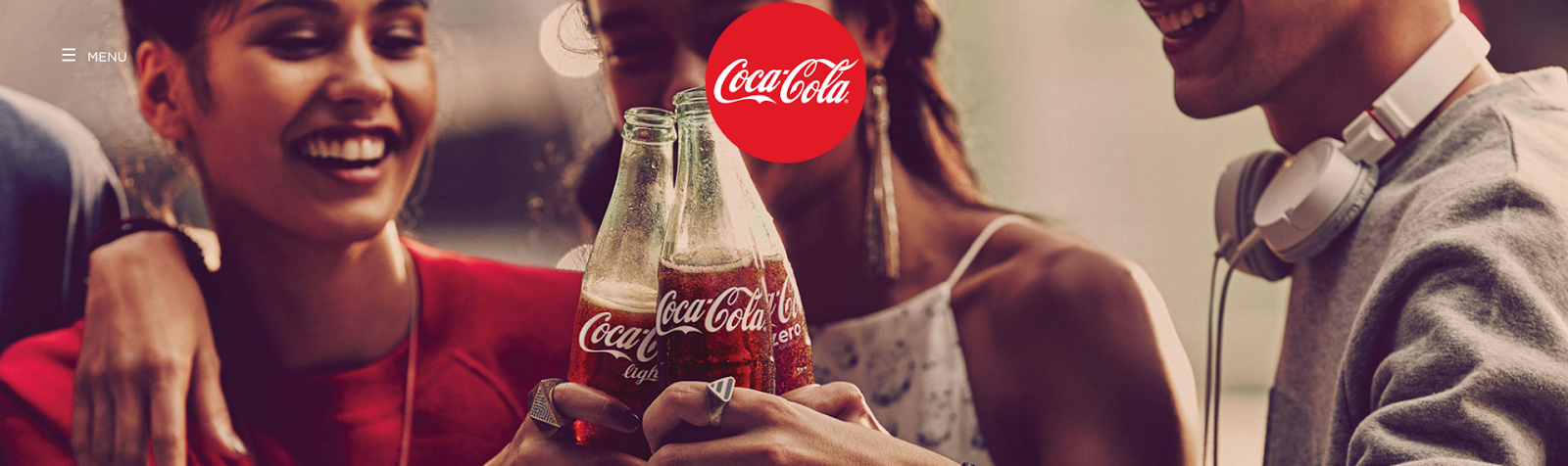 Coca Cola homepage screenshot