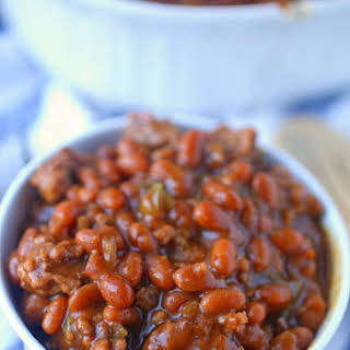 Auntie Val's Easy Baked Beans.