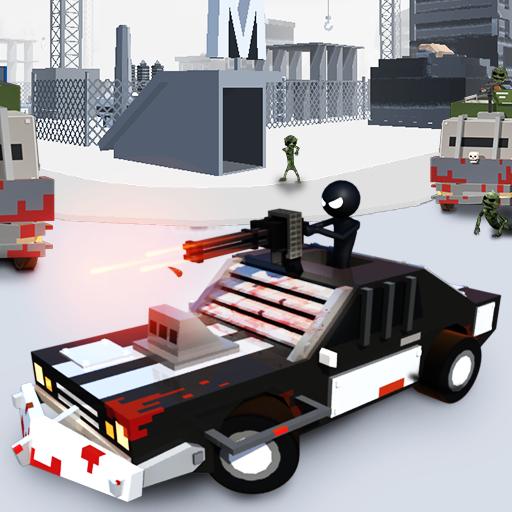 Stickman Car: Zombie Shooting