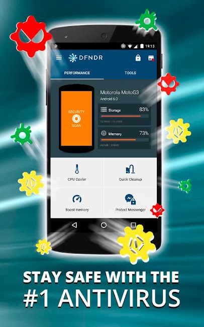 #1. DFNDR: Antivirus & Cleaner (Android)