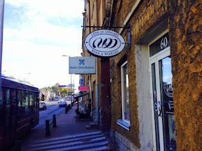 Photo: Flera trevliga möjligheter till garnshopping blev det i Tallinn - Woll & Wollen var det många som hittade till.