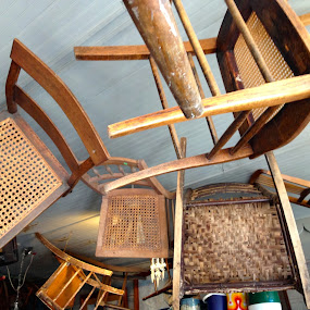 Have a Seat I by Eric Eldritch - Artistic Objects Other Objects ( chair, chairs )