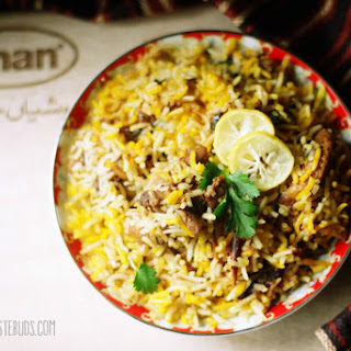 Chicken Biryani with Shan Biryani Paste.
