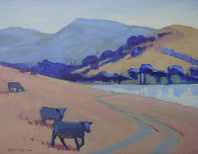 """Photo: """"Diablo from Martinez"""", acrylic on canvas by Nancy Roberts, copyright 2014. Private collection."""