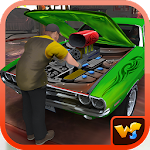 Luxury Car Mechanic Workshop Icon