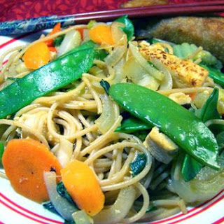 Spicy Orange Tofu Lo Mein