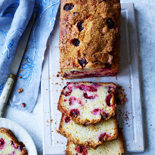Lemon and Raspberry Yogurt Loaf Cake