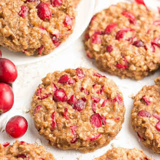 Healthy Cranberry Banana Oatmeal Cookies.