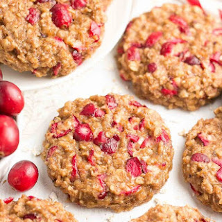 Healthy Cranberry Banana Oatmeal Cookies.