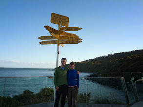 Photo: The sign post in Bluff, maybe the southernmost tip of the South Island.  Maybe not.