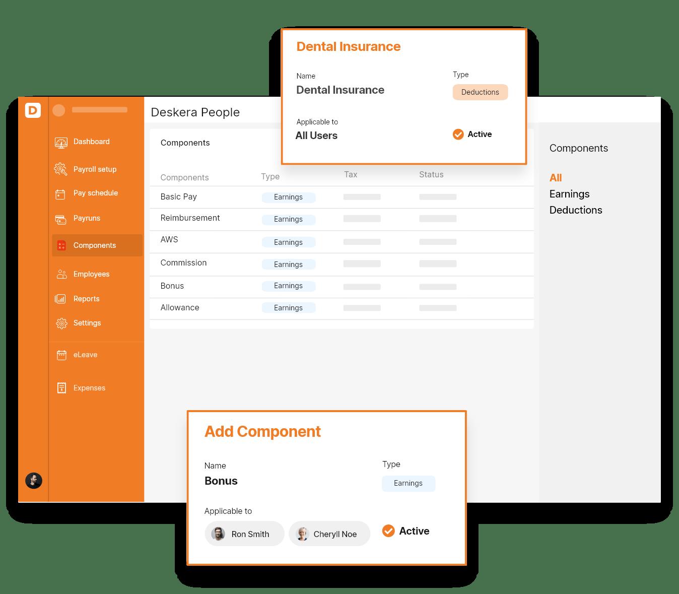 Deskera Payroll Software - Net Salary