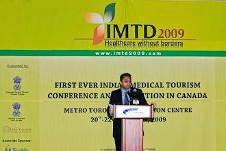 Photo: Husain speaking at IMTD 2009  http://canadaindiaeducation.com/introduction/media-outreach