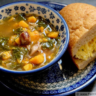 Chicken, Sweet Potato, and Kale Soup.