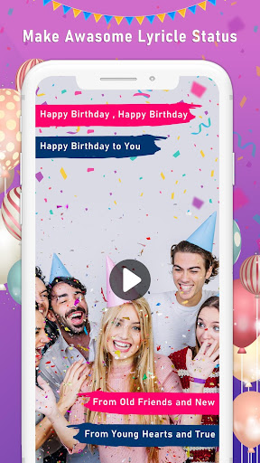 Birthday Video Maker with Song and Name ss1