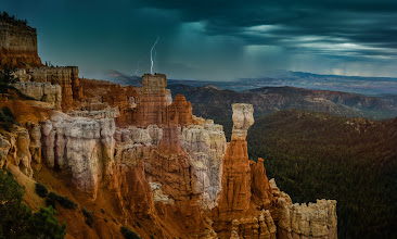 Photo: I'm really enjoying Utah - I can't believe how many places there are to see and photograph. One thing is hard to find though... Internet! That is why I have been posting so slowly lately! :)  I got to Bryce Canyon last night just as a storm was rolling in... rolling cloud after rolling thunder and lightning was all around... right after I took these, those big summer-storm raindrops came falling... you know those huge drops - the ones that mean there is about to be something crazy coming down soon!